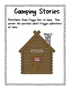 2nd Grade Common Core- Froggy Goes to Camp Reading Comprehension Questions