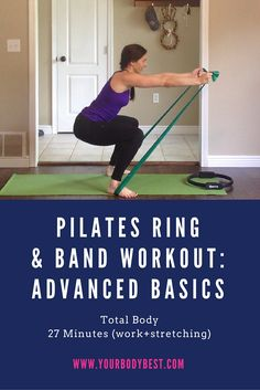 A new pilates ring workout! We also use a resistance band (sometimes both pieces together!). If you've done my Beginner Basics pilates ring workout, you'll recognize these exercises as more advanced versions of the 10 we did in that video. Enjoy!