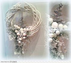 icu ~ Pin on wianki i stroiki ~ This Pin was discovered by Agnieszka Kina. Christmas Makes, Noel Christmas, Christmas Projects, All Things Christmas, Christmas Ornaments, Christmas Cookies, Christmas Gift Decorations, Diy Wreath, Door Wreaths