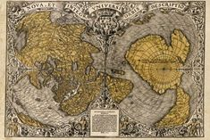 Oronteus Finaeus map shows Antarctica ice free. The map was drawn in 1532 AD but Antarctica was not discovered until 300 years later! and the continent was probably not ice free for at least years