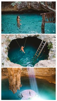 The Top 10 cenotes to visit in Yucatan, Mexico. Read more on www. Top 10 Cenotes to visit in Yucatan, Mexico. Read more www. Cancun Vacation, Mexico Vacation, Mexico Travel, Dream Vacations, Italy Vacation, Dream Vacation Spots, Romantic Vacations, Romantic Travel, Cozumel Mexico