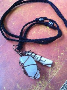 Moonstone Focus Charm Necklace by ArtCraftandNature on Etsy, $10.00
