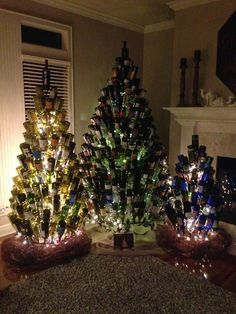 items similar to wine bottle christmas tree stand on etsy