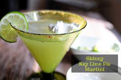 The Sequin Notebook: April Cocktail Link Up + Skinny Key Lime Pie Martini