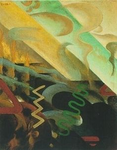 """Julius Evola, """"Astrazione"""" (""""Abstraction""""), 1920"""
