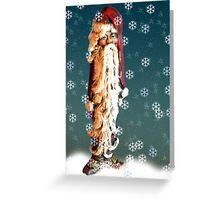 Sad Skinny Santa Greeting Card