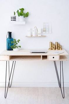 We Love This Scandinavian Style Desk And Minimalist Design Aesthetic Of  This Home Office Space.