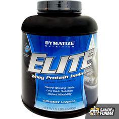 """Elite Whey é um alimento protéico de alto valor biológico, contendo em sua formulaçao uma perfeita mistura de derivados do soro do leite: proteínas de ação rápida, proteínas isoladas por troca iônica e proteínas concentradas, além de abundantes quantidades de glutamina e minoácidos de cadeia ramificada (""""BCAA""""). Isso tudo com excelente solubilidade (mistura instantaneamente)"""