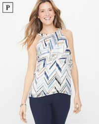Petite Burnout Shell Top