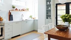 Want to discover how your kitchen remodel can create a clean country look that's both contemporary and traditional? Contact us for help... http://jeanekandbdesign.com/contact/