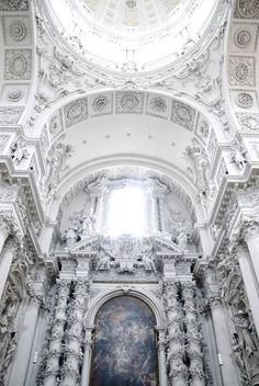 The Theatine Church Of St. Cajetan Catholic Church. Munich, Germany.