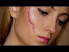 Easy Scar - Last Minute Halloween Makeup Tutorial - YouTube