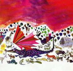 SALE  RED DRAGON Nursery print vintage Brian by theStoryOfVintage