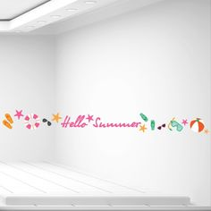 Αυτοκόλλητα καλοκαιρινής βιτρίνας Hello Summer