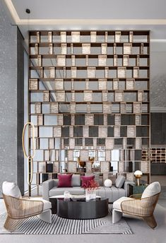 Modern Furniture Decor Home Depot Outdoor Furniture Side Tables Lobby Interior, Luxury Homes Interior, Home Interior Design, Interior Decorating, Modern Interior, Hotel Lobby Design, Modern Hotel Lobby, Living Room Partition Design, Room Partition Designs