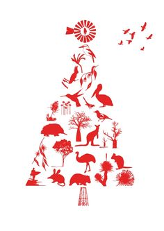 Christmas in #HTFSTYLE. DECORATE. Christmas tree print from hardtofind.com.au