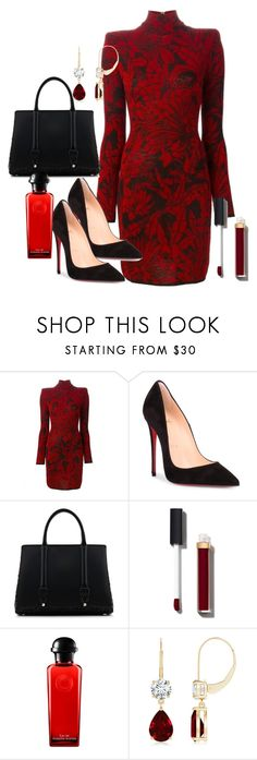 """""""Untitled #96"""" by styledbydonita ❤ liked on Polyvore featuring Balmain, Christian Louboutin, La Perla, Chanel and Hermès"""