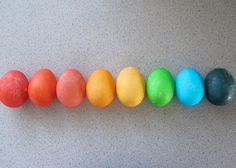 Easter eggs colored with Kool-Aid.