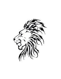 Ideas Tattoo Lion Sketch Art Prints For 2019 Tribal Lion Tattoo, Lion Head Tattoos, Lion Tattoo Design, Arrow Tattoos, Feather Tattoos, Tattoo Motive, Tattoo Outline, Arm Tattoo, Elephant Tattoos