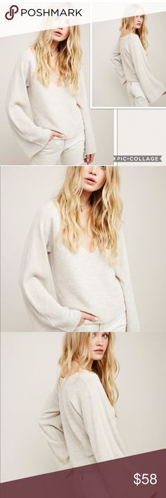95546853ce4abd ... Sweater - V-neck - Long bell sleeves - Allover ribbed knit construction  - Approx. length - Imported Fiber Content nylon, wool, modal Care Hand wash  cold ...
