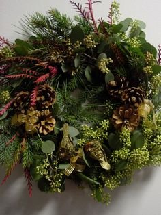 Christmas Wreath at Limelight Floral Design Store 519 Adams St Hoboken NJ