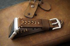 Handmade Vintage Leather Band BaseBall by BlackForestAtelier