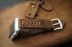 Handmade Vintage Leather Band BaseBall by BlackForestAtelier