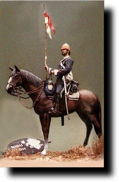 British Empire: Armed Forces: Units: British Cavalry: 1822 - Lancers: Model of Trooper 1879 Military Figures, Military Art, Military History, British Army Uniform, British Uniforms, French History, British History, Colonial, Zulu Warrior