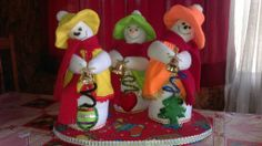 nieves derretidos Felt Toys, Advent Calendar, Sewing Projects, Ornaments, Holiday Decor, Fabric, Pattern, Home Decor, Melted Snowman