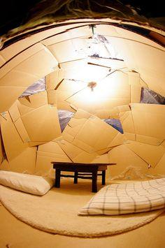 Tanaka Satoshi's (Japanese Master Maker) first Makedo dome - Wow.