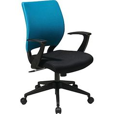 131 Office Star Em51022n Sl7 Work Smart Fabric Task Chair With Fixed Arms Blue