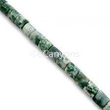 Tree Agate Stone Beads - 4x4mm Drum   Price : $3.99