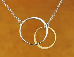 SILVER AND GOLD Elegant Eternal Circles on Silver by Popsicledrum, $30.00
