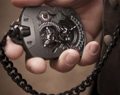 Urwerk packs 15 years of expertise into the UR-1001. Talk about redefining the pocket watch!
