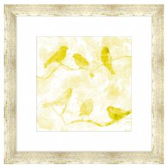 Add a charming touch above your mantel or to the entryway gallery wall with this charming giclee print, showcasing a lovely perched bird motif and wood frame...