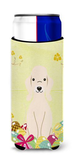 Easter Eggs Bedlington Terrier Sandy Michelob Ultra Hugger for slim cans BB6091MUK
