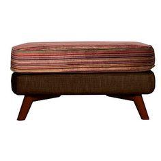 Bark 'Kandinsky' footstool with dark feet