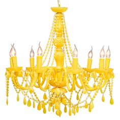 Pop Yellow Chandelier  |  Chandeliers  |  Lighting  |  French Bedroom Company. http://www.frenchbedroomcompany.co.uk/store/lighting/floor-lamps/product/large-lacey-yellow-floor-lamp