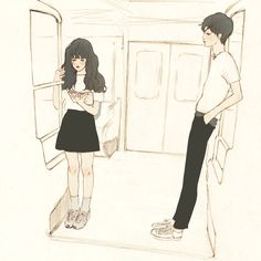 韓國살구 salgoolulu動態圖 Animated Gif Illustrator by 살구 salgoolulu Couple Illustration, Character Illustration, Digital Illustration, Liz Clements, Anime Love Story, Korean Art, Couple Drawings, Couple Art, Cute Gif
