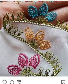 Needle Tatting, Needle Lace, Bobbin Lace, Hand Embroidery Stitches, Embroidery Patches, Crochet Stitches, Couture Embroidery, Viking Tattoo Design, Sunflower Tattoo Design