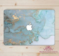 Ocean Blue Marble MacBook Case Hard Plastic by MacBookCasesandCo