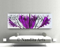 Purple Painting, Large Wall Art, Original Oil Painting, Abstract Art Gift for her, Modern Painting Office or Home Decor Artwork by Nandita #AbstractPainting #artwork #ModernPainting #PurpleHomeDecor #LargeArtwork #PurpleWallArt #PurplePainting #AbstractArt #LargeWallArt #OriginalArtPurple