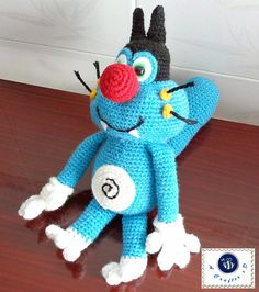 gratis free:Oggy - free amigurumi pattern Note: This pattern can be made by any yarn and hook size just choose a yarn type that matches the hook.