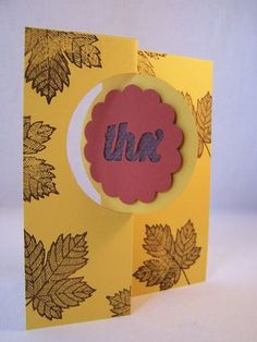 How to Make Flip (Swing) Cards in a flash video tutorial, Stampin' Up! Card Thinlits  #flipcard #stampinupcard www.stampingcountry.com Where Creativity Blooms
