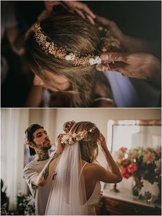wedding hairstyles with tiara Macarena + und + Jordi + + Boda + und + Valencia + + Pablo + Laguia + Macarena + und + Jordi + + Hochzeit + und + Valencia + + Pablo + Laguia + Fhrer Wedding Hair Flowers, Wedding Hair And Makeup, Wedding Veils, Wedding Hair Accessories, Flowers In Hair, Bridal Hair, Hair Makeup, Hair Wedding, Boho Wedding