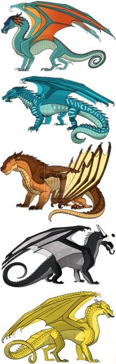 (!!!SPOILERS FOR TBN!!!) Updated Dragonets by kassldy on deviantART