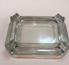 ASHTRAY-ANTIQUE  CLEAR DEPRESSION GLASS Selling On Ebay, Plant, Antiques, Antiquities, Antique, Old Stuff, Plants, Replant, Trees