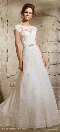 Blu by Madeline Gardner 2015 Wedding Dress