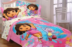 Dora Toddler Bedding Set