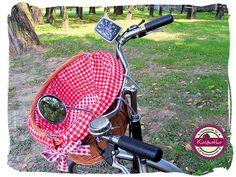 Koszyk rowerowy, lusterko rowerowe i licznik VDO vintage